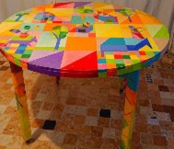 tavolo olio su legno